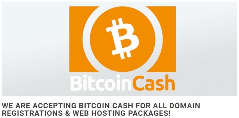 Usted puede pagar con BCH por su dominio de Abaco Hosting