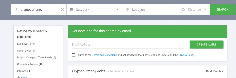 El cripto empleo es superior a más de 8,000 empleos en 2020